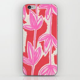 Red and Pink Sketchbook Botanical iPhone Skin