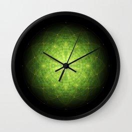 enigma. sacred geometry mandala. Wall Clock