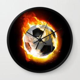 Soccer Fire Ball Wall Clock