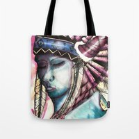native Tote Bags featuring Native by Siriusreno