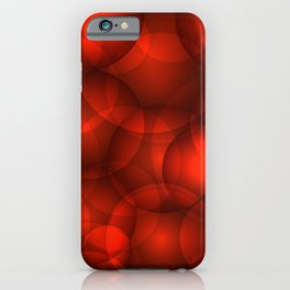 Glowing bloody soap circles and volumetric red bubbles of air and water. iPhone Case