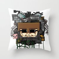 book cover Throw Pillows featuring CRAFT - Book Cover by VerticalSynapse