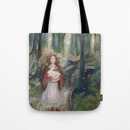 Gwynith and the White Rabbit Tote Bag