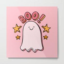 Cute Boo Metal Print