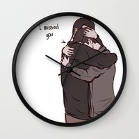 sterek Wall Clocks featuring Sterek Reunion by Dimension Bound