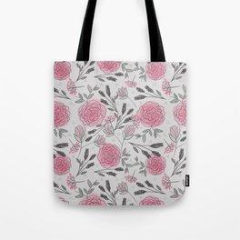 Soft and Sketchy Peonies Tote Bag