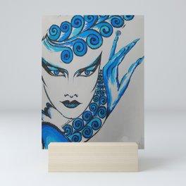 Blue Blood Goddess Mini Art Print