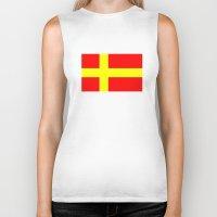 swedish Biker Tanks featuring Swedish speaking Finns flag by tony tudor
