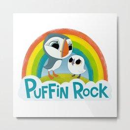 Puffin Rock Logo Metal Print