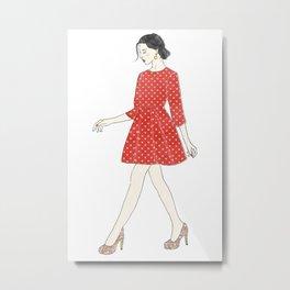 Fashion style illustration Metal Print