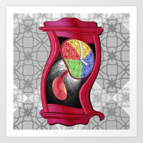 Dali Grandfather Clock Art Print