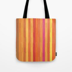 Orange and Yellow Stripes and Lines Abstract Tote Bag