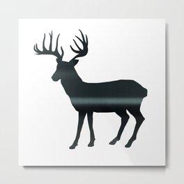 Deer print, Black & White Metal Print