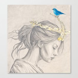 Glimmering gold crown Canvas Print