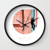 sagittarius Wall Clocks featuring Sagittarius by bialakura
