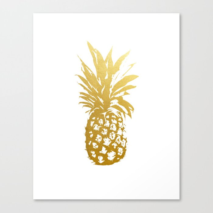 Faux Gold Foil Print Of Pineapple Print Gold Art Print Home Decor Living  Room Art Modern