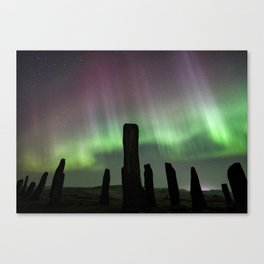 Callanish and aurora Canvas Print