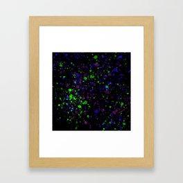 Neon Splash Framed Art Print