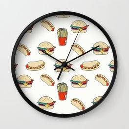 Junk Food Wall Clock