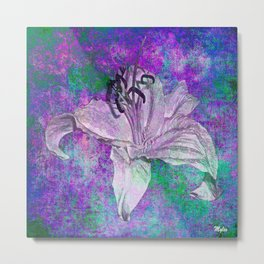 Lily on Purple Metal Print