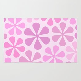 Abstract Flowers in Pinks Rug