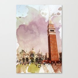 the Piazza Canvas Print