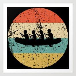 White Water Rafting Vintage Retro Rafters Art Print