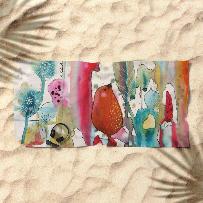 jouons aux bois Beach Towel