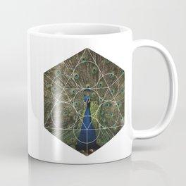 Beautiful Peacock - Geometric Photography Coffee Mug