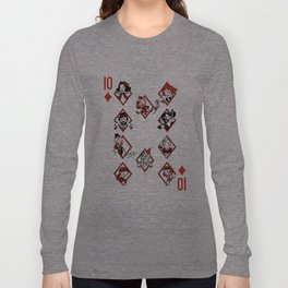Sawdust Deck: The 10 of Diamonds Long Sleeve T-shirt