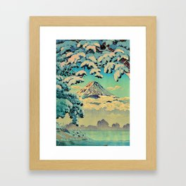 Kehiin in the Snow Framed Art Print