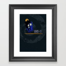 "Doctor Who: TARDIS - ""Allons-y!"" Framed Art Print"