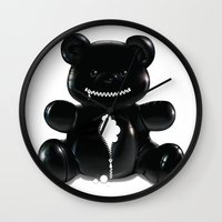 hug Wall Clocks featuring Hug by Bubblegun