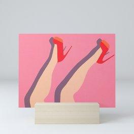 Red Pumps Mini Art Print