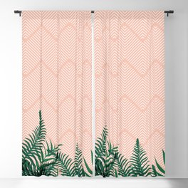 Tropical Ferns on Pink #society6 #decor #buyart Blackout Curtain