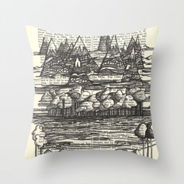 Doodle View Throw Pillow