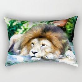 Lion Art One Rectangular Pillow