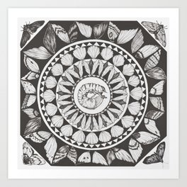 circle of wings Art Print