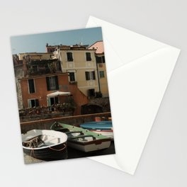 Colorful fishing boats Italy | Mediterranean sea, Europe| Wanderlust travel photography wall art Stationery Cards