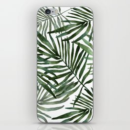 Watercolor simple leaves iPhone Skin