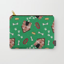 Dog Paradise in Green Carry-All Pouch