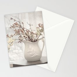Berries in White Vase Stationery Cards