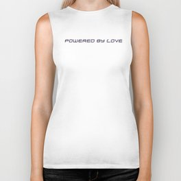 POWERED BY LOVE 2 - dark Biker Tank