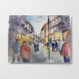 Street in Europe Metal Print