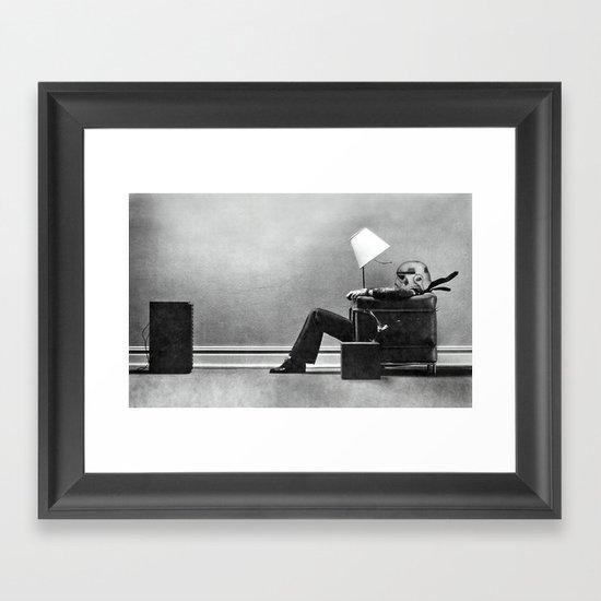 The Empire Rocks Back Framed Art Print