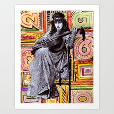 Guitarist in Time Art Print