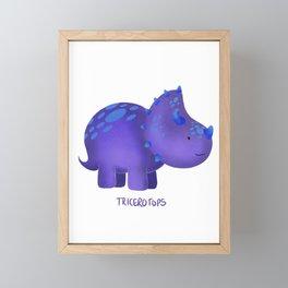 Tricerotops Framed Mini Art Print