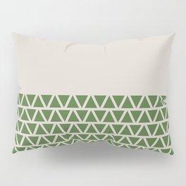 Triangles half Pattern (Treetop Green, Cream) Pillow Sham