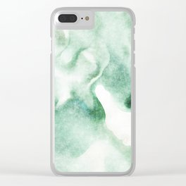 stained fantasy greenish milk Clear iPhone Case