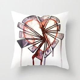 Shattered heart Throw Pillow